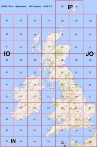 Maidenhead Grid Squares (UK)