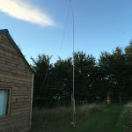 80m dipole at the log cabin M1DST was staying in