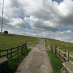 The road leading to the Medip transmitter mast